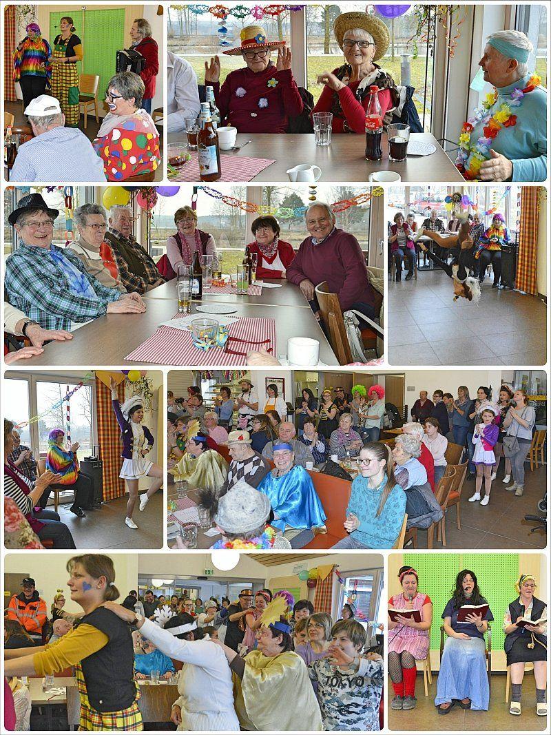Collage vom Seniorenfasching
