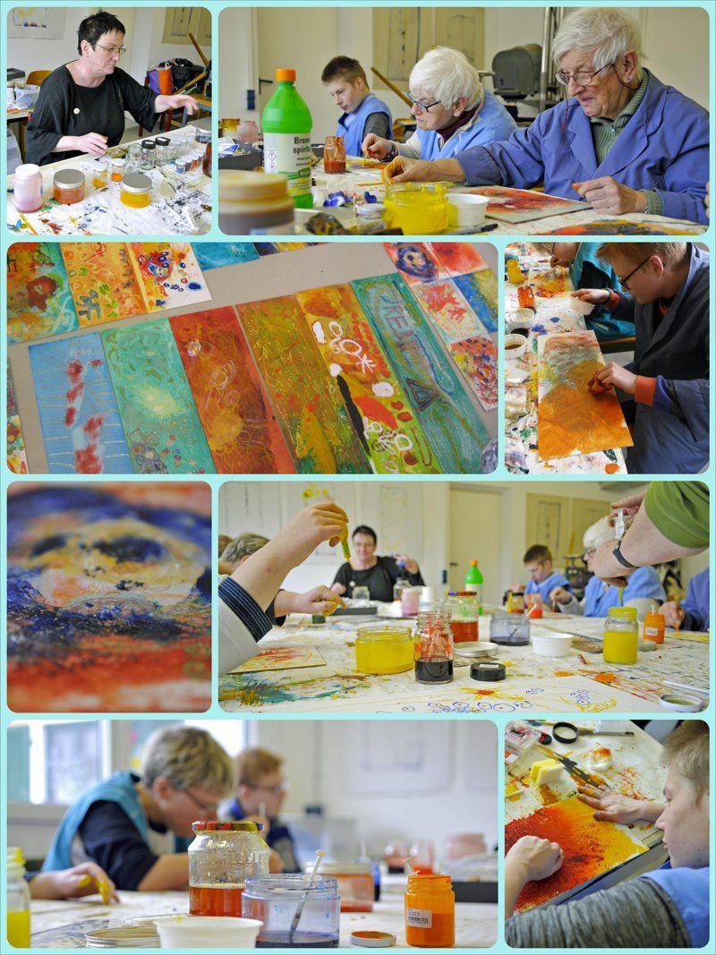 Schellack-Kunstworkshop mit Isabel Warner