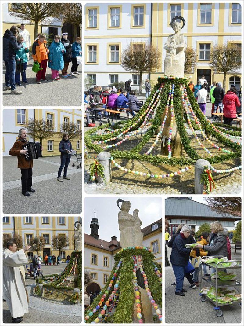 Osterbrunnenfeier im Innenhof