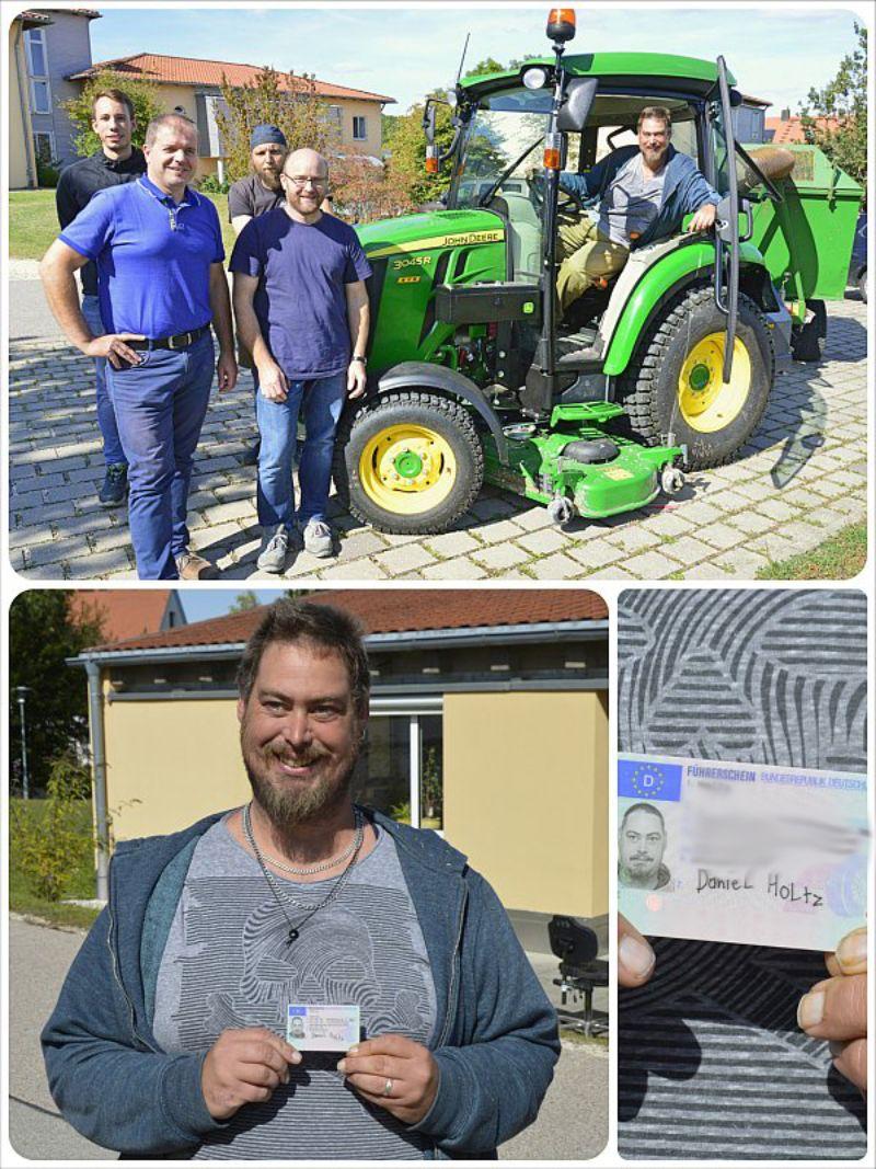 Bewohner machte Traktor-Führerschein